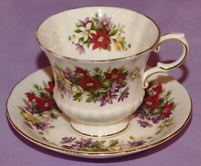 Paragon Fine Bone China Tea Cup & Teacup and Saucer Duo ~ Flower Festival H