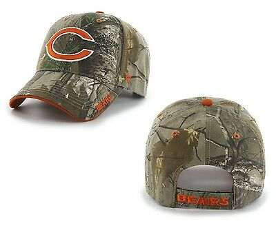 5b1adfa2fe9670 CHICAGO BEARS 47 Brand Clean Up Hat Adjustable Cap RealTree Frost ...