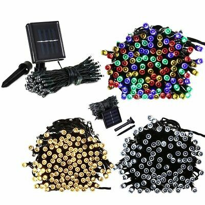 100/200/500 LED Solar Fairy Garden Lights String Outdoor Party Summer Christmas
