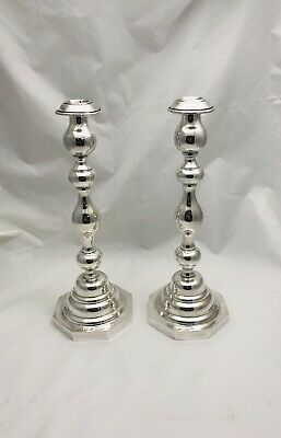 Authentic English Sterling Silver WT & Son Pair Candlesticks