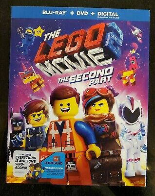 LEGO Movie 2 The Second Part (2019) *Blu-Ray* DVD *Digital Code* Free Shipping
