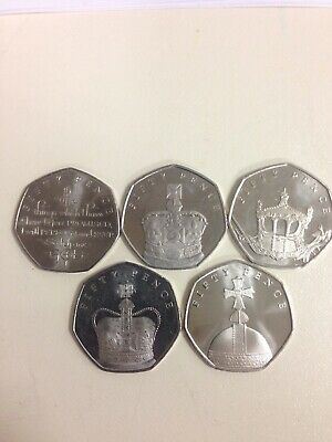 🇮🇲Isle of Man 🇮🇲Sapphire Anniversary 50p Set Rare Coins Queen Coronation