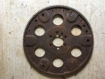 "Vintage Large 12 3/4"" Diameter Iron Flywheel Gear Industrial Steampunk"