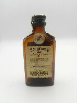 Mignon miniature minibottle Whisky Seagram's 7 Crown (x)
