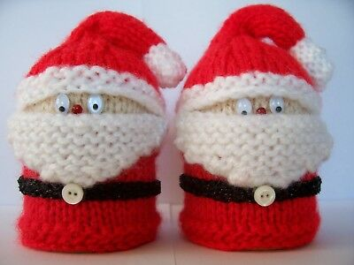 KNITTING PATTERN NEW * KNITTED FATHER CHRISTMAS EGG COSY