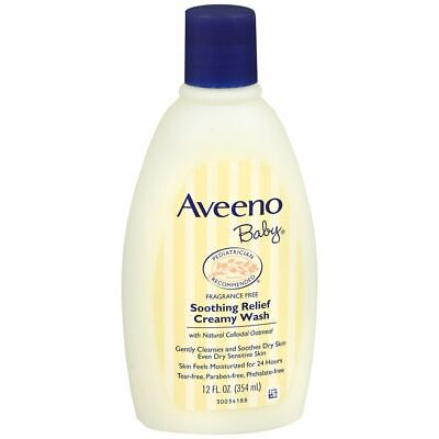 AVEENO Baby Soothing Relief Creamy Wash - 12 OZ (2 Packs)