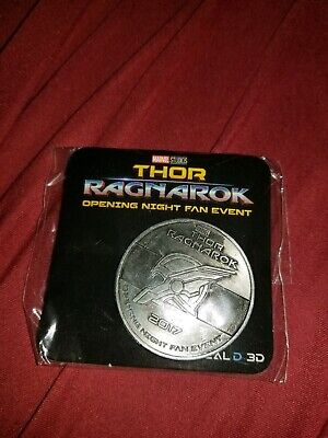 THOR RAGNAROK Fan Event Exclusive Collector Coin MARVEL AVENGERS