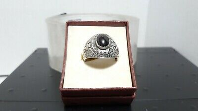 """TRUE VINTAGE"" STERLING SILVER UNITED STATES ARMY  RING Sz 10.5, Wt 15 Grams"