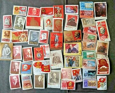 Russia: 1960'S - 70'S Stamp Collection 50 Different Used