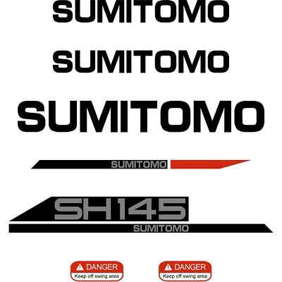Sumitomo SH145X-6, SH145, SH145X, Decals Stickers New Repro Decal Kit