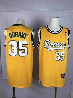 84556af838d New Seattle Supersonics Kevin Durant 35 Classic Throwback Swingman Yellow  Jersey