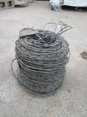 Spool of barb wire never used