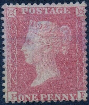 1857 QV 1d Red Star P-F C10 (Plate 42) Perf 14 Large Crown Mounted Mint
