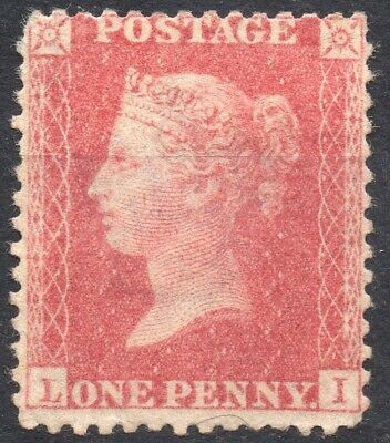1857 QV 1d Red Star L-I C10 (Plate 48) Perf 14 Large Crown Mounted Mint