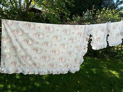 Vintage Floral Chintzy Double Duvet Cover With Matching Pillowcases