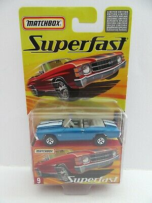 Matchbox Superfast No.9 Chevy Chevelle Convertible - Blue - Mint/Boxed