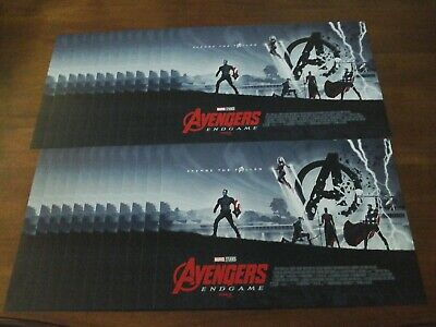 "25 AVENGERS ENDGAME WEEK 2 AMC IMAX MINI POSTER  Lot. 11"" x 15.5 "" NEW & RARE"
