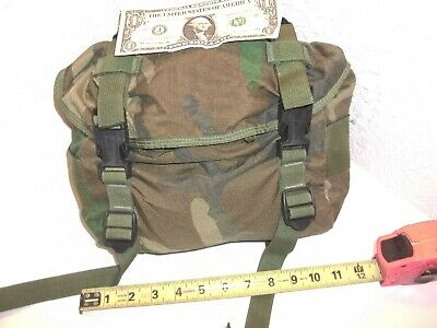 US Army 'Butt Pack' WOODLAND CAMO ALC FIELD PACK TRAINING,  NSN 8465-00-935-6825