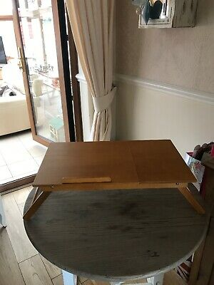 Vintage Folding Bed Tray Table 1970's Retro Reading Table