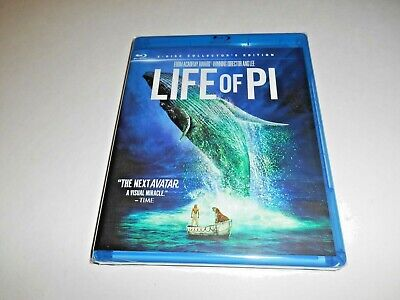 Life of Pi - Blu-ray 3D, Blu-ray & DVD 3 Disc Collector's Edition] New Fast Ship