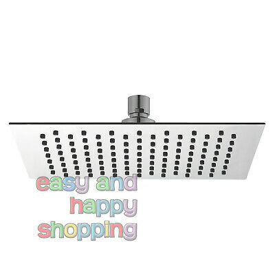Mondella ROCOCO SQUARE RAIN SHOWER HEAD 400mm Stainless Steel CHROME *Aust Brand