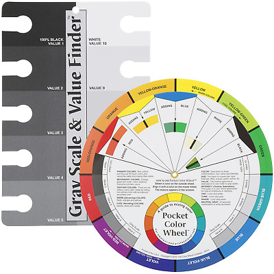Color Wheel Pocket Guide with Gray Scale Value Finder - for both the amateur and