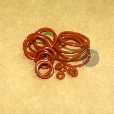 15pcs Food Grade Silicone Sealing ring Red O-Ring ( Line diameter:2.0mm)