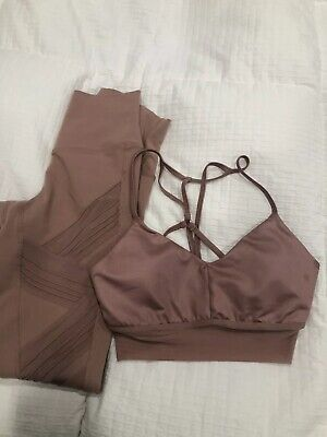 8efd6cc4d7 Alo Yoga Ultimate Legging Rosewater size XS High Waisted & Matching Bra Top
