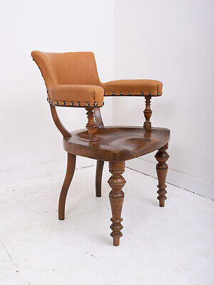 Early 20th Century Swiss Antique Walnut Desk Chair