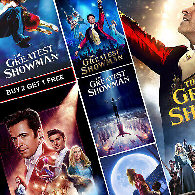 The Greatest Showman Movie Posters A4 Prints Art Decor Hugh Jackman Zac Efron