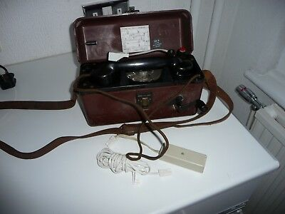Gpo Engineers Telephone Testing Rig, Complete With Generator & Leads Very Rare