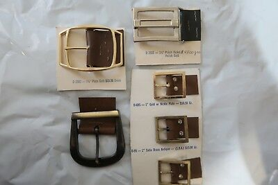 Huge Lot Of 6 Vintage Belt Buckles