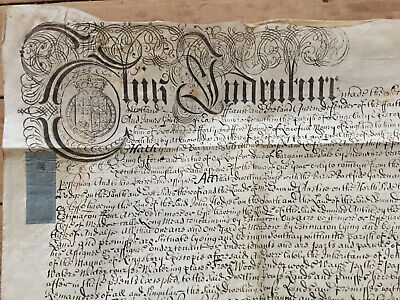 1707 Queen Anne Indenture Release Property in Kingsbury Episcopi - Prowse, Gould