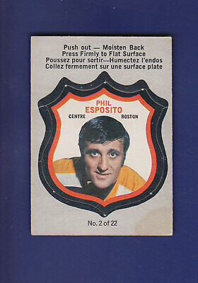Phil Esposito 1972-73 O-PEE-CHEE Hockey All Star Push Out Card #2of22 (VG+)