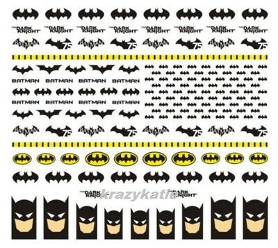 Batman #6 Nail Decal Sticker Water Transfer New Arrival Latest