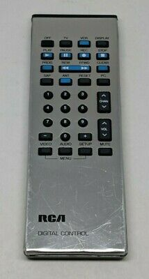 RCA CRK50A Silver TV Digital Remote Control Used Tested Working