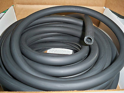 "25 Continuous Feet  3/8"" ID x 1/8"" W x 5/8"" OD Black Latex Rubber Tubing"