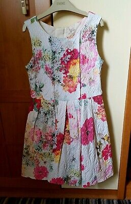 Girls Next Floral Prom Party Wedding Dress Age 9 Immaculate condition worn once