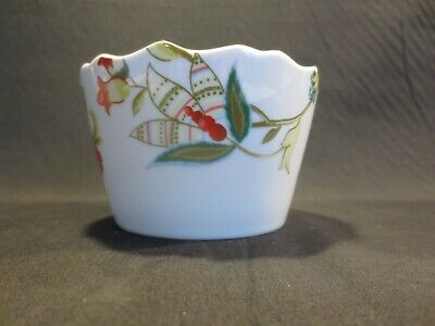 222 Fifth ~Bella Donna~Individual Appetizer/Dessert Bowl Floral on White EUC