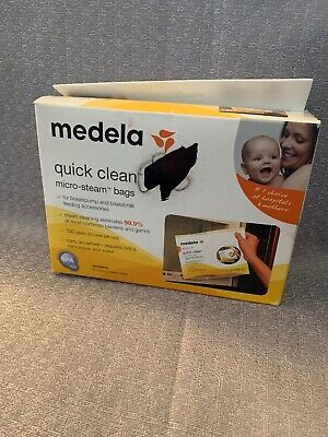 Medela - Quick Clean Micro Steam Bags - 5 Bags/Box New
