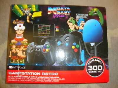 NEW My Arcade Game Station Data East Hits Console - 300 retro games BurgerTime