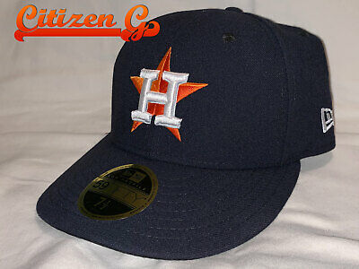 57f27ded45e5b0 New HOUSTON ASTROS New Era Authentic Low Profile 59FIFTY Fitted Hat 7 1/2  NWT