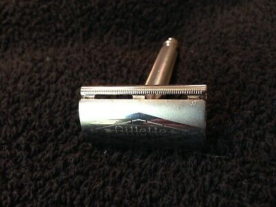 """Gillette"" 3 PIECE TECH  Vintage  B1 Double Edge Safety Razor c.1950's Made USA"