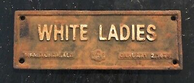 1934 White Ladies Black Americana Segregation Cast Iron Sign, Birmingham Al