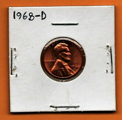 1968- D Lincoln Memorial Cent / Penny In Coin Holder-Nice Set Filler !