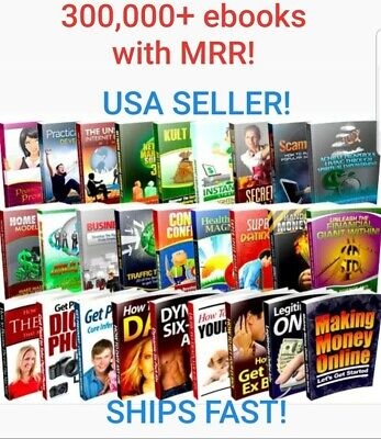 300,000+ eBooks Package Collection, Pdf Format, With Master Resell Rights ⭐⭐⭐⭐⭐