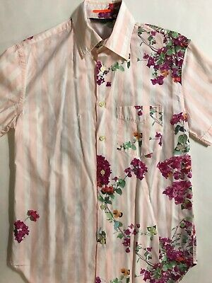 65abaa25 MEN'S PAUL SMITH FLORAL SHORT SLEEVE CAMP SHiRT SZ MED HiPSTER GORGEOUS