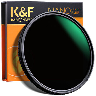 K&F Concept 82mm ND Filter Fader Variable Neutral Density ND8 to ND128 NO X Spot