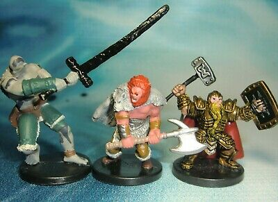DUNGEONS & DRAGONS Miniatures Lot Male Dwarf Paladin Goliath Barbarian !!  s139