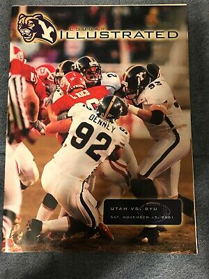 2001 BYU VS. Utah Collage Football Game Program NCAA Cougars Utes Brett Keisel